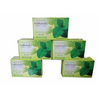 Avon Naturals Deodorizing Bar Soap pack of 5