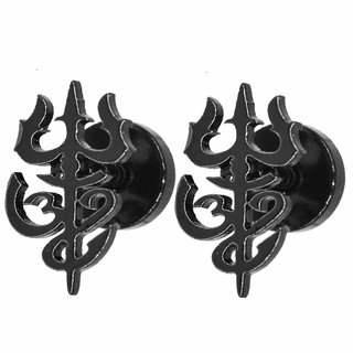 Lord Shiv OM Trishul Earring for Men and Women by SILVOSWAN Best Quality OM Trishul Stud Earring for Girls and Boys