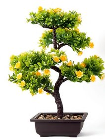 Style UR Home - Artifical Miniascape Evergreen Bonsai Tree with Yellow Flowers