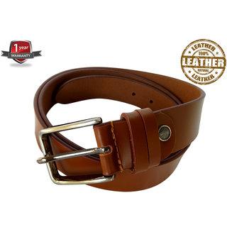 Red Eagle Style /  Men belt  / tan /  Genuine Leather belt