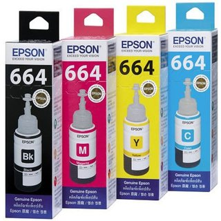 Epson T664 Set Of 4 Ink L300 Multi Color Ink Cartridge Black, Magenta, Cyan, Yellow