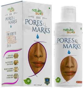 Nature Sure Pores and Marks Oil - 100ml  for enlarged skin pores, stretch marks and fine lines