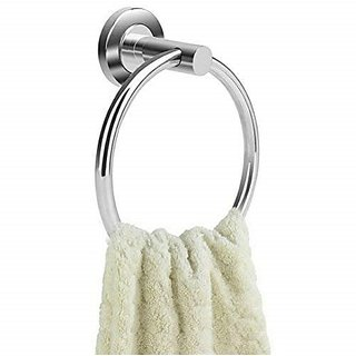 Kridhay Natura Life Stainless Steel Towel Rings/Towel Bar/Towel Holder for Bathroom and Sink (KD-TOWELRING-2)