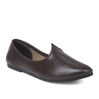 Global Rich Men's Brown Mojari Shoe
