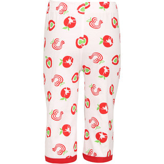 Sinimini Girls Three Fourth Cotton Printed Capri With Bio Wash (Pack Of 1).