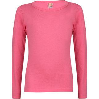 Sinimini Girls Full Sleeve Cotton Round Neck Tshirt With Bio Wash (Pack Of 1).