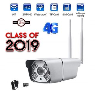 ITS Wireless Smart 4G/3G SIM GSM Bullet Camera (With 16Gb)