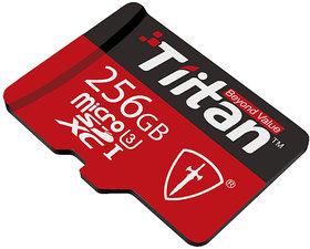 Tiitan 256 GB MicroSD Class U3 Speed up-to 300 MB/s