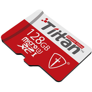 Tiitan 128 GB Micro SD Class U3 Speed up-to 300 MB/s