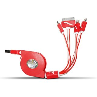 Digimate D32-3 in 1 To USB Cable-(Red)