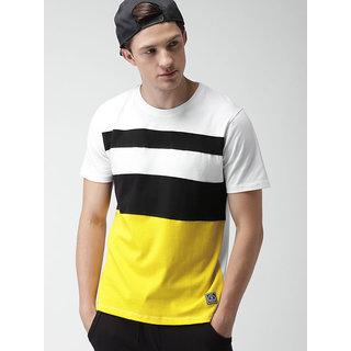 Stylogue Men's Multicolor Cotton Blend T-shirts