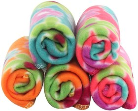 MD Multicolor Cotton 150 GSM Solid Face Towels - Set of 5 (Assorted)