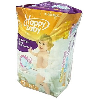 11 Pcs Happy Baby Diaper with 12 Hrs. Extra Absorbent
