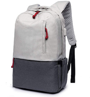 Style Homez Stanley Nylon Laptop Backpack for 15.6 Laptop, Spacious Bag, USB Charging Support, 16 Litre Slate Grey