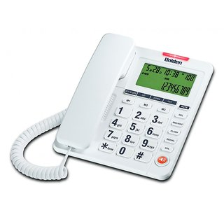 UNIDEN AS7408 white Corded Landline Phone with Speakerphone Caller ID