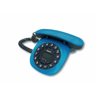 UNIDEN AT8601 Blue Corded Landline Phone with Speakerphone Caller ID