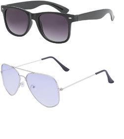 Amora Aviator,wayfarer Sunglasses combo