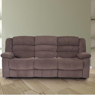 Houzzcraft Gream manual 3 seater recliner fabric