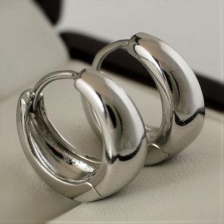 Salman Khan Inspired Silver Colour Kaju Bali Earrings For Men Imported Salman Khan Bali Hoop Huggie Silver Color Unisex