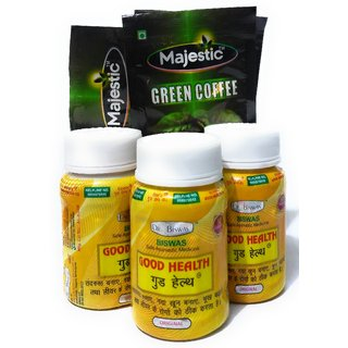 Dr Biswas Good Health Capsule with Majestic Green Coffee Sachet (Pack of 3)