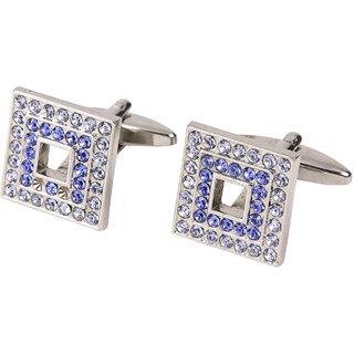 69th Avenue Men's Silver Adjustable Square Cufflinks