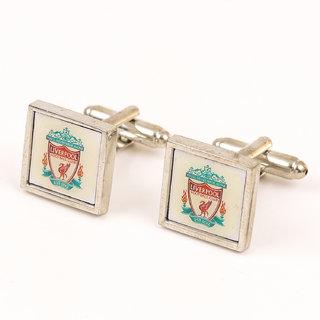 69th Avenue Men's Multicolour Liverpool Football Club Pattern Square Cufflinks