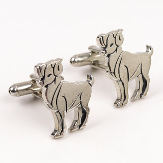 69th Avenue Men's  Silver Animal Shaped Cufflinks