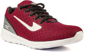 Jaisco Men's Red Sports Shoes