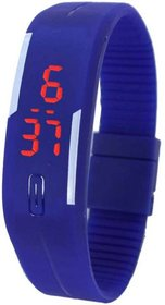 TRUE CHOICE NEW SMART LOOK LED BLUE WATCH FOR BOYS  KIDS  GIRLS WITH 6 MONTH WARRANTY