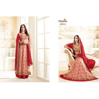 Indian Stylish Designer Bollywood Party Anarkali Salwar Suit Dress Material Unstitched Lite Pink