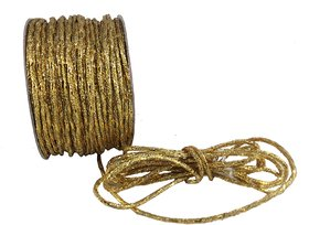 De-Ultimate Golden (18 Mtr) Silk Thread/Dori Lace For Sewing,Embroidery,Laces And Borders,Jewelry Making,Handicraftwork