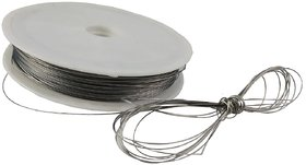 De-Ultimate Silver (65 Mtr) Metal Thread/Dori For Embroidery,Sewing,Bead Art,Piping, Apparels,Wrapping,Handicraftworks