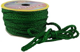 De-Ultimate Green (18 Mtr) Silk Thread/Dori Lace For Sewing,Embroidery,Laces And Borders,Jewelry Making,Handicraftworks