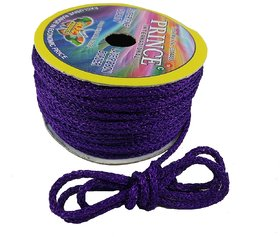 De-Ultimate Purple (18 Mtr) Silk Thread/Dori Lace For Sewing,Embroidery,Laces And Borders,Jewelry Making,Handicraftwork