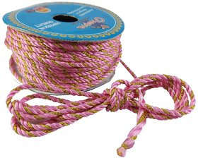 De-Ultimate Multicolor 18 Mtr Silk Thread/Dori Lace For Sewing,Embroidery,Laces And Borders,Jewelry Making,Handicrafts