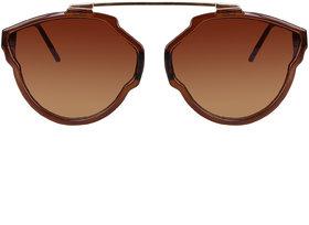 David Martin Brown  Brown Gradient (UV PROTECTED) Unisex Round Sunglass (Medium Size).