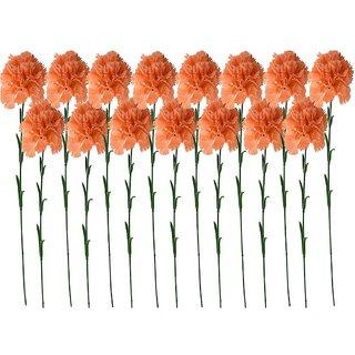 Golden Cart Single Carnation Artificial Flowers (Set of 21 Peach)