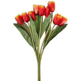 Golden Cart Beautiful Artificial Tulip Bunch (Set of 9 Multi)