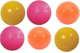 VK Multi Color Pvc Cricket Wind Ball (pack of 6)