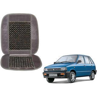 Auto Addict Car Seat Wooden Bead Seat Cover Cushion with Grey Velvet Border For Maruti Suzuki 800