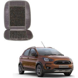 Auto Addict Car Seat Wooden Bead Seat Cover Cushion with Grey Velvet Border For Ford Freestyle