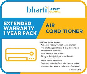 Bharti Assist Global Private Limited 1 Year Extended Warranty for Air Conditioner between Rs. 30001 to Rs. 50000