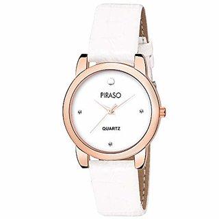 Piraso Analog White Watch For- Girls &Amp; Women-052-Cpr-Wh