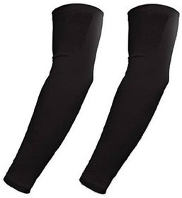 love4ride HMS Black Universal Wet And Dry Sunlight Protection Arm Sleeves (Set of 1)