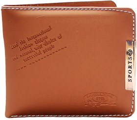 Stylish Attractive Tan Sports Wallet