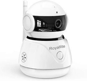 Royallite Wireless 1080P HD IP WiFi CCTV Indoor Security Camera (Supports Up to 128 GB SD Card) (White Color)