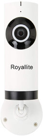 Royallite Wireless Fisheye Vision 180D1002W Panoramic IP Camera (Support Upto 128 GB SD Card) (White)
