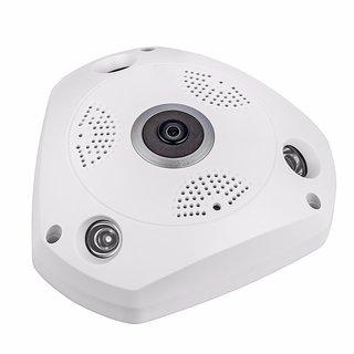 Royallite 1.3MP Wireless Fisheye Vision 360 Panoramic IP CCTV Security Home Surveillance Camera(White)