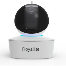 Royalite 2MP Plug N Play Wireless CCTV Camera with Pan-Tilt, Built-in Speaker  Mic with SD Card Connectivity Upto 128GB