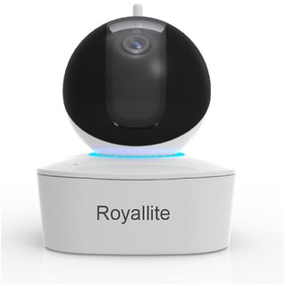 Royalite 2MP Plug N Play Wireless CCTV Camera with Pan-Tilt Built-in Speaker Mic with SD Card Connectivity Upto 128GB
